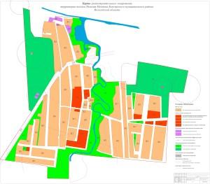 Карта градостроительного плана поселка Нижняя Мондома